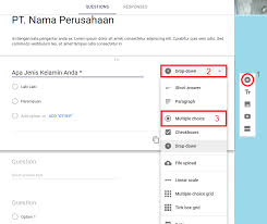 langkah membuat google form cara buat formulir lowongan kerja online tukang listrik batam