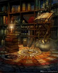 Background Bookshelf Indoor Room Bookshelf Backdrop Photography Old Magic Book Skull