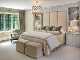 chambre et literie design interieur idée chambre literie beige clair lustre métal