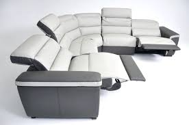 Reclining Sectional Sofas Leather Sectional Sofa With Recliner Bikepool Co