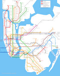 New York Borough Map by New York City Subway Map
