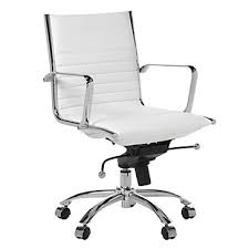 white office chair 259 00 z gallerie malcolm office chair white no bar on the within