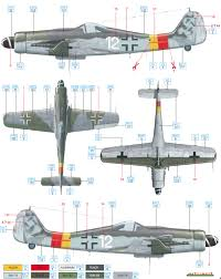 focke wulf fw 190d 9 jg 301 color profile and paint guide