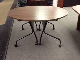 training chairs with tables ofm c260 custom 60 diameter round flip top training table new