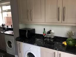 granite countertop cream kitchens with wood worktops microwave