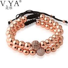 rose gold bead bracelet images 8mm rose gold bead bracelets for women jewelry 19 to 34cm jpg