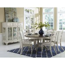 Round Rugs For Under Kitchen Table by Dining Room Decorating Ideas Using Patterned Light Blue Rug Under