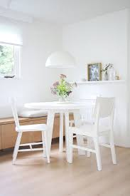 interior design pendant lamp white dining table chair wooden