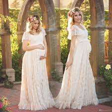 wedding dresses maternity chagne lace maternity wedding dresses sleeves 2017 a line