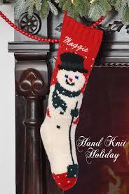 personalized snowman knit