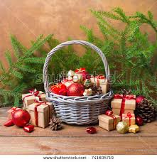new years basket christmas new year background basket colored stock photo 741605719