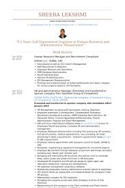 Administration Manager Resume Sample by Human Resource Manager Resume Samples Visualcv Resume Samples