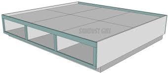 California King Platform Bed With Drawers Alluring King Bed Frame With Drawers Plans And Cal King Platform