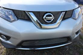 2016 nissan rogue 3pc upper insert billet grille kit