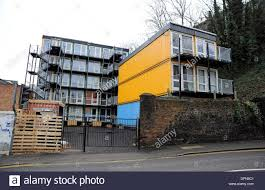 converted transport shipping containers made into housing for the