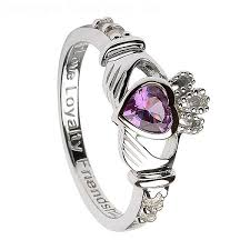 the claddagh ring silver claddagh ring with alexandrite june birthstone