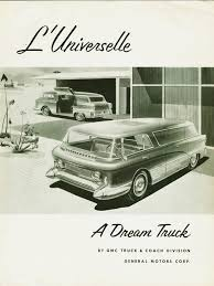 gmc sedan concept 1955 l u0027universelle u201cthe universal u201d gmc concept van unveiled at