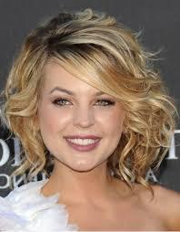 medium length hairstyles for thin curly hair length curly hairstyles for round faces