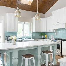 blue kitchen backsplash blue subway tile backsplash transitional kitchen