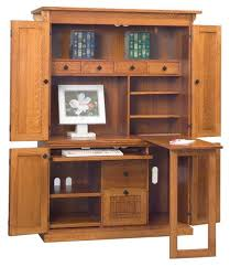 Computer Armoire Corner Save Space Add Function With A Qualtiy Corner Computer Armoire
