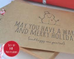 christmas postcard etsy