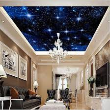 Starry Night Ceiling by Custom 3d Night Sky Stars Wallpaper For Walls Ceiling Photo Wall