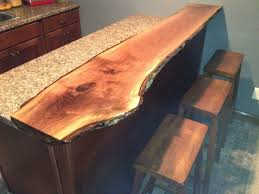 live edge black walnut bar top diy board pinterest bar