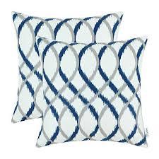 blue and gray sofa pillows blue and gray throw pillows amazon com