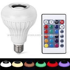 Bluetooth Light Bulb Speaker China 2017 New E27 Smart Led Music Bulb Bluetooth Rgb Light