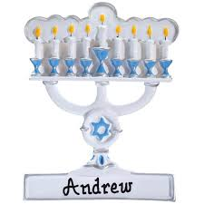 personalized menorah ornament ornament kimball