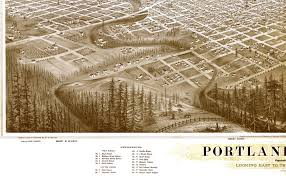 Maps Portland Oregon by Portland Oregon In 1879 Bird U0027s Eye View Map Aerial Map