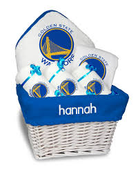 personalized basket personalized golden state warriors medium gift basket mlb baby gift