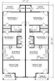 plan of house floor of plan id 24301 house plans duplex