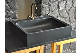 evier cuisine granit noir 70 x 60cm évier de cuisine en granit noir véritable lagos shadow