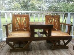 Building Plans For Picnic Table Bench by Plans For Building Wood Patio Furniture Quick Woodworking