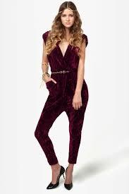 wine jumpsuit junkies ziggy disco romper velvet jumpsuit drop crotch