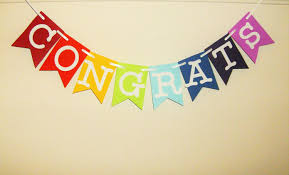 congratulations bridal shower congrats banner congratulations graduation anniversary