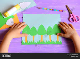 small child made earth day card image u0026 photo bigstock