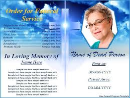 free funeral program templates for word free funeral program