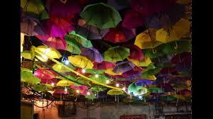 Umbrella Ceiling Light Alfama Umbrella Sky Project Installation Youtube