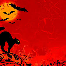 black cat and bats halloween ipad wallpaper hd halloween