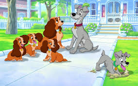 house dogs lady and the tramp cartoon disney walt disney house dogs puppies