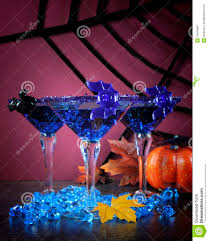 martini purple happy halloween ghoulish party cocktail drinks with blue martini