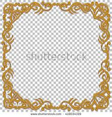 oriental design vector border golden frame gems oriental stock vector 410034319