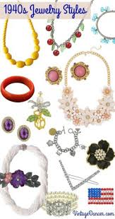 vintage necklace styles images New 1940s costume jewelry necklaces earrings pins jpg