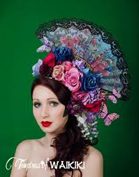 flower headdress flamenco flower headdress estrella