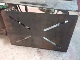 welding table top exhaust and powder coating mint design