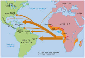 Triangular Trade Map African Slavery