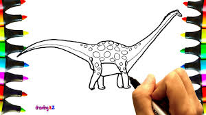 how to draw antarctosaurus dinosaur coloring pages for kids