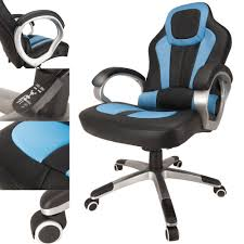 Gaming Chair Desk by Raygar Deluxe Padded Sports Racing Gaming U0026 Office Chair Blue